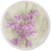 Belle Round Beach Towel by Elaine Teague