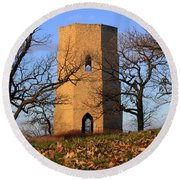 Beloit Historic Water Tower Round Beach Towel