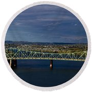 Belpre Bridge Round Beach Towel