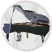 Bendy Piano Round Beach Towel