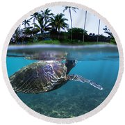 Beneath The Palms Round Beach Towel