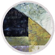 Bent On Abstraction Round Beach Towel