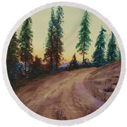 Bergebo Forest Round Beach Towel by Martin Howard
