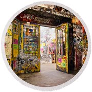Berlin - The Kunsthaus Tacheles Round Beach Towel by Luciano Mortula