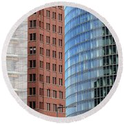 Berlin Buildings Detail Round Beach Towel