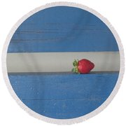 Round Beach Towel featuring the photograph Berry Blues by Christina Verdgeline