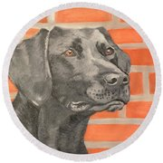 Best Friend Round Beach Towel