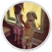 Best Of Friends Round Beach Towel