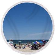 Bethany Beach Panorama Round Beach Towel