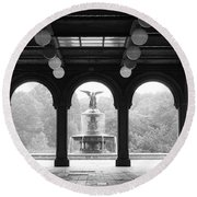 Bethesda Terrace  1990s Round Beach Towel