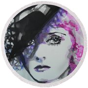 Bette Davis 02 Round Beach Towel