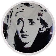 Bette Davis Round Beach Towel