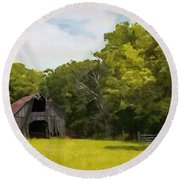 Round Beach Towel featuring the painting Better Days by Jeff Kolker