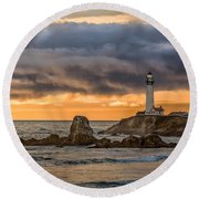 Between Storms Round Beach Towel
