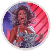 Beyonce Round Beach Towel by Paul Meijering