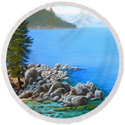 Beyond Secret Cove Round Beach Towel