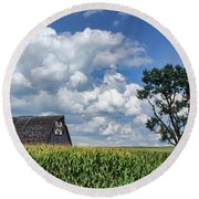 Beyond The Corn Round Beach Towel by Nikolyn McDonald