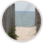 Beyond The Dunes Round Beach Towel by Barbara Bardzik