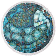 Beyond The Oceans... Round Beach Towel