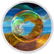 Beyond The Sea  Round Beach Towel by Robin Moline