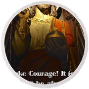 Bible Quote  Mark 6  50 Round Beach Towel