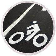Bicycle Lane Round Beach Towel