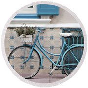 Vintage Bicycle Photography - Bicycles Are Not Only For Summer Round Beach Towel