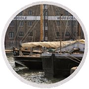 Biddle Warehouse Round Beach Towel by Ron Harpham