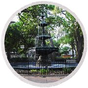 Bienville Fountain Mobile Alabama Round Beach Towel
