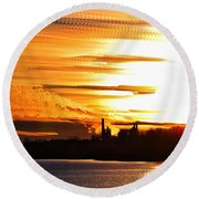 Big Ball Of Fire Round Beach Towel