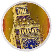 Big Ben 3 Round Beach Towel