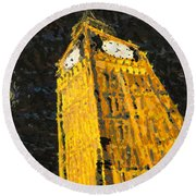Big Ben At Night Round Beach Towel