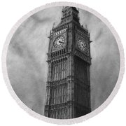 Big Ben London Round Beach Towel