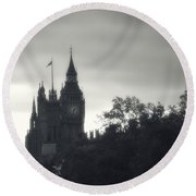 Round Beach Towel featuring the photograph Big Ben by Rachel Mirror
