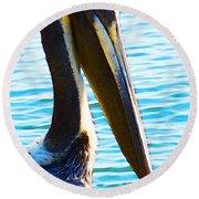 Big Bill - Pelican Art By Sharon Cummings Round Beach Towel