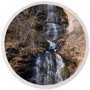 Big Bradley Falls 2 Round Beach Towel