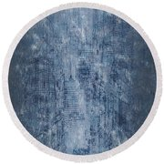 Big City Round Beach Towel