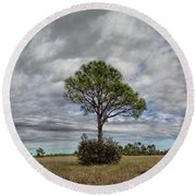 Big Cypress Round Beach Towel