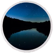 Big Dipper Reflection Round Beach Towel