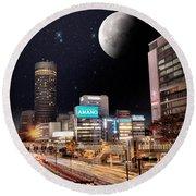 Big Moon Yokohama Round Beach Towel
