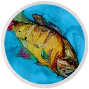 Big Mouth Round Beach Towel