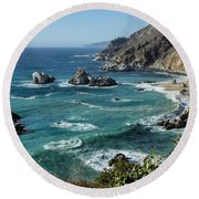 Big Sur Coast From Julia Pfeiffer Burns Round Beach Towel
