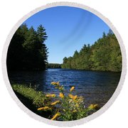 Round Beach Towel featuring the photograph Bigelow Hollow  by Neal Eslinger