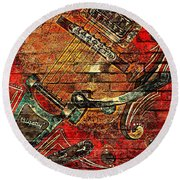 Bigsby Faux Mural Round Beach Towel by Chris Berry