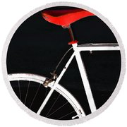 Bike In Black White And Red No 1 Round Beach Towel