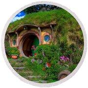 Bilbo Baggin's House 5 Round Beach Towel