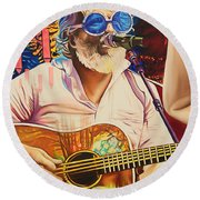 Bill Nershi At Horning's Hideout Round Beach Towel