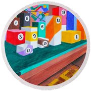 Billiard Table Round Beach Towel