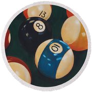 Billiards Round Beach Towel