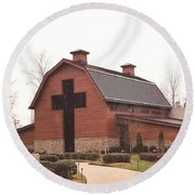 Billy Graham Library Round Beach Towel